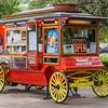 Popcorn sales wagon in HemisFair Park in San Antonio.