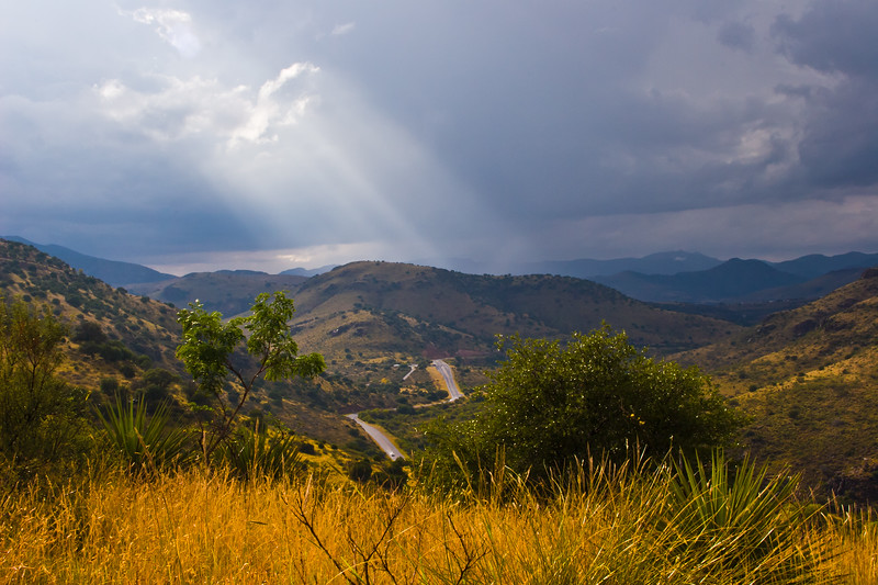 Scenic Drive just before a thunder storm in the Davis Mountains in Southwest Texas.