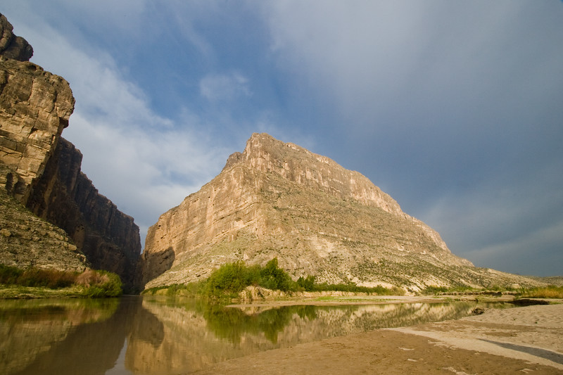 Rio Grande River at Santa Elena Canyon, just after sunrise, near Big Bend National Park