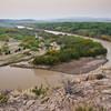 Rio Grande River at daybreak in BIg Bend National Park in Texas.