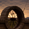 Windmill Silhouette at Sunrise near Alpine, Texas.