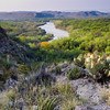 View of Rio Grande River from Boquillas Canyon in Big Bend National Park