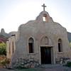 "Adobe Church in morning light,<br /> from ""Streets of Laredo"" movie set,<br /> on the Rio Grande River"
