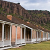 Fort Davis National Historic Site, a unit of the National Park Service, in southwest Texas. Fort Davis has been preserved as a prime example of a frontier military post during the Indian Wars of the 19th Century.
