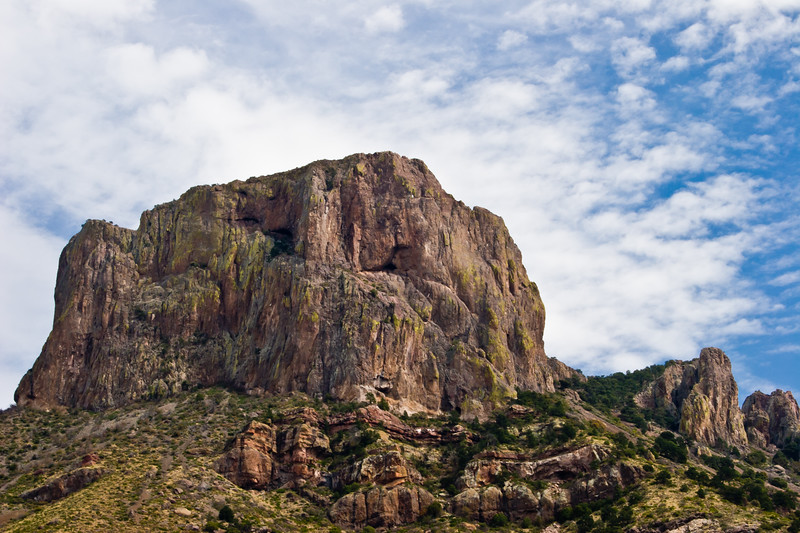 Mountain in Chisos Mountains, Big Bend National Park, in Texas.