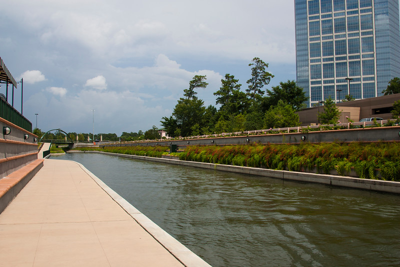 The Woodlands Waterway and River Walk in The Woodlands, Texas.