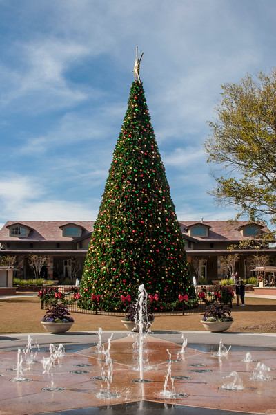 Christmas Decorations at Market Street in The Woodlands, Texas.