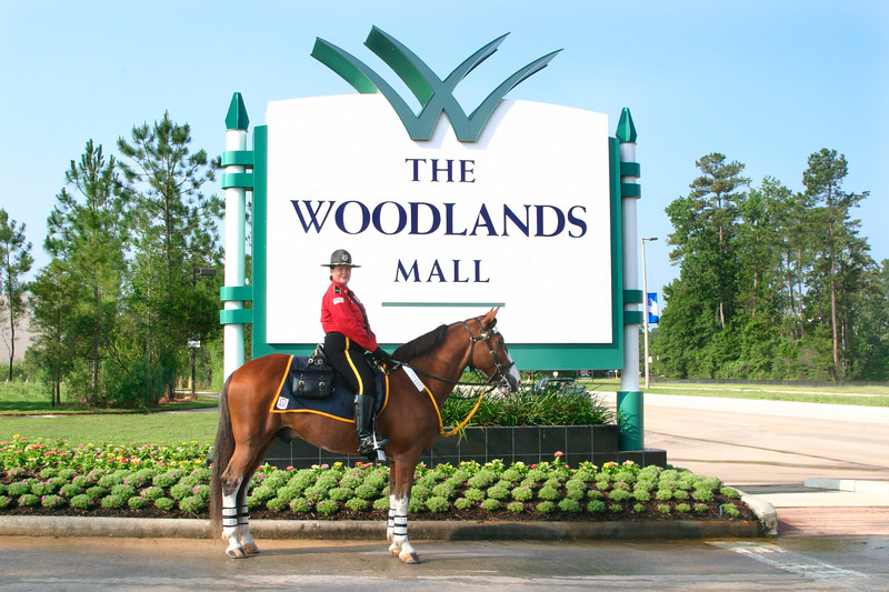 Marilyn Kinney, mounted security trooper, in The Woodlands, TX.