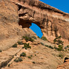 Arch formations in Arches National Park in Utah.