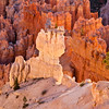 "Sunrise at Bryce Point in Bryce Canyon National Park in Utah. One of the best viewpoints of the ""silent city"" of hoodoos, Bryce Point is a good site for both sunrise, with beautiful aplenglow, and sunset shadows and contours."