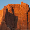 Sunrise in Arches National Park in Utah.