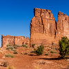 The Organ sandstone formation in early morning light in Arches National Park in Utah.