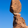 Balanced Rock and other rock formations in Arches National Park in Utah.