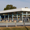 Chesapeake Bay Bridge Tunnel System toll booth on the eastern shore of Virginia.