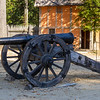 Cannon at Jamestown Settlement living history museum in the Colonial National Historical Park in Virginia.