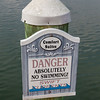 Danger - No Swimming! sign