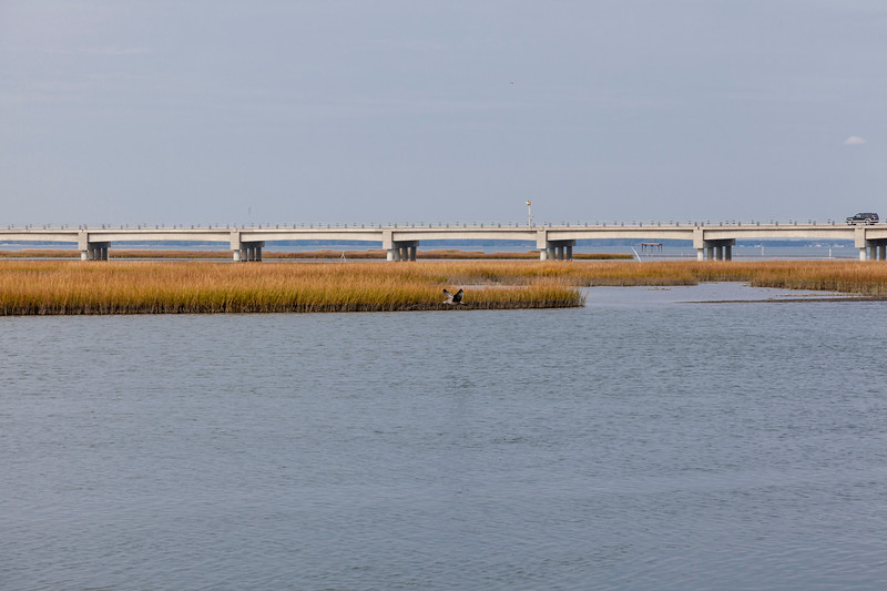 Bridge to Chincoteague Island on the eastern shore of Virginia.