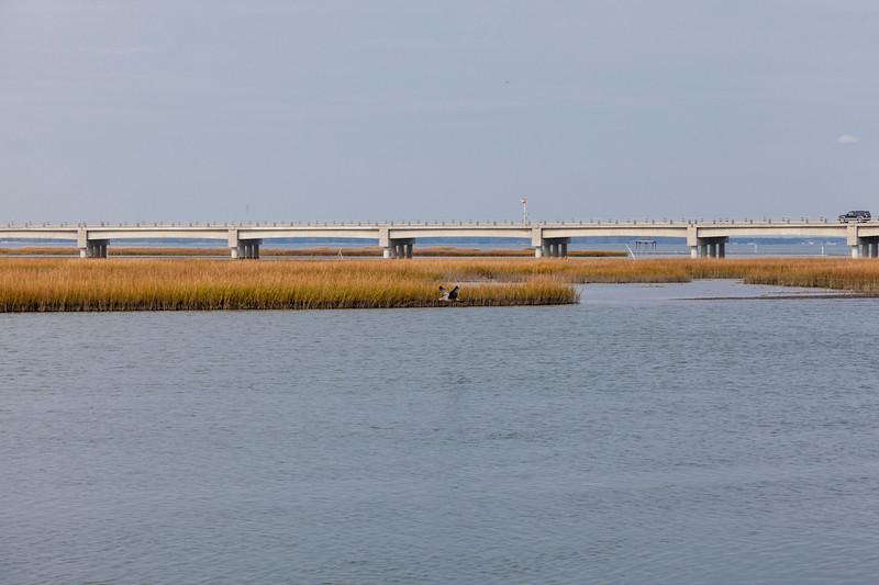 Bridge to Chincoteague Island on the eastern shore of Virginia.