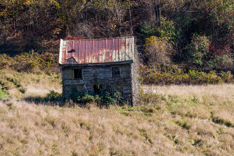 Abandoned Barn on Blue Ridge Parkway in Virginia.