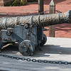 Old Cannon in historic downtown Yorktown in the Colonial National Historic Park in Virginia.