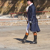 Re-enactment drama of revolutionary debate in Colonial Williamsburg historic district.