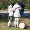 Re-enactment drama of revolutionary war debate in Colonial Williamsburg in Virginia.