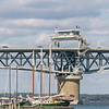 George P Coleman double-swing-bridge over the York River at Yorktown River, is the largest double-swing-span bridge in the United States.
