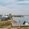 Boats in Chincoteague Harbor on the eastern shore of Virginia.