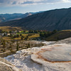 Mammoth Hot Springs in Yellowstone National Park in Wyoming.