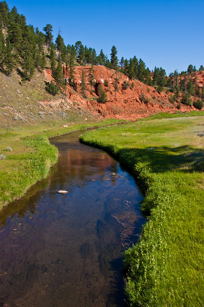 Belle Fourche River in Wyoming at the Devil's Tower National Monument.