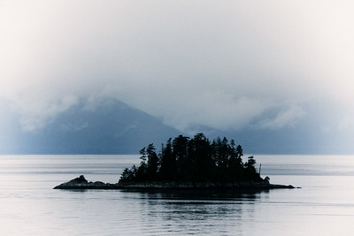 Remote Island near Endicott Glacier
