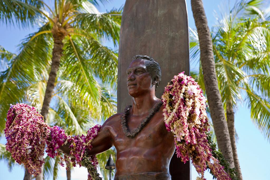 Duke Paoa Kahinu Mokoe Hulikohola Kahanamoku (August 24, 1890  January 22, 1968), was born in Hawaii on August 24, 1890. He is generally regarded as the father of modern surfing, Olympic champion and legendary waterman.