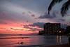 Sunset at Waikiki beach - you got to see it!