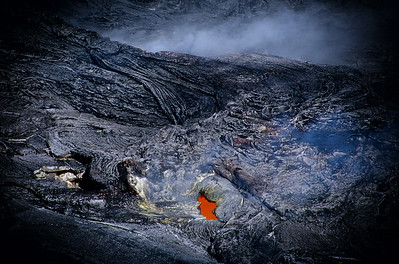 Lava Vent inside the crater of Kilauea Volcano