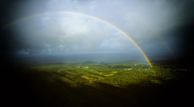 Rainbow over Hilo, Hawaii
