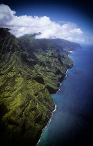 Aerial View of the Na Pali Coastline