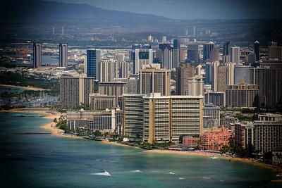 Waikiki from Diamond Head State Monument