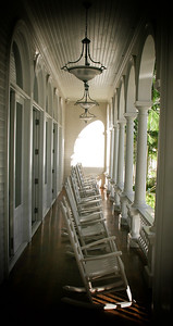 Front Porch of the Moana Surfrider Hotel