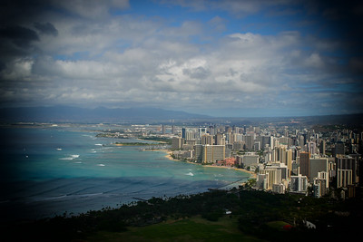 Waikiki from Diamond Head State Momument