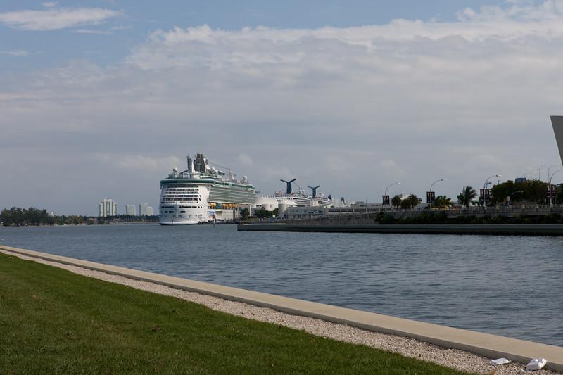 Cruise ship dock at Miami harbor