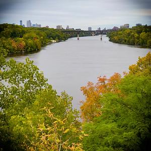 Minneapolis Skyline at Autumn