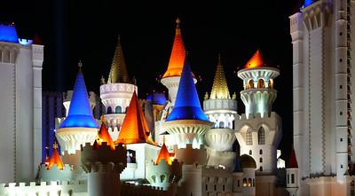 Excalibur Hotel and Casino at Night