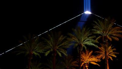 Luxor Hotel & Casino at Night