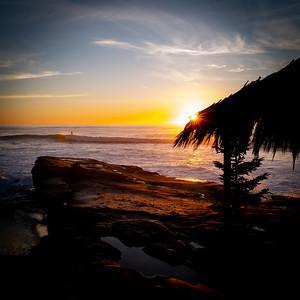 Surfer at Windansea Beach, La Jolla, California