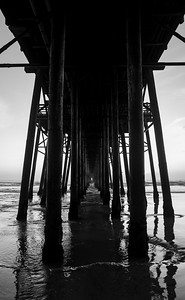 Oceanside Pier Monochrome