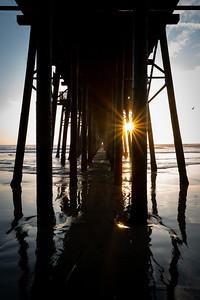 Starburst through the Oceanside Pier
