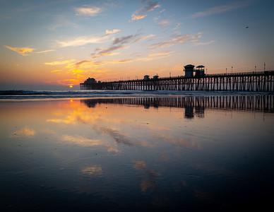 Sun setting over the Oceanside Pier