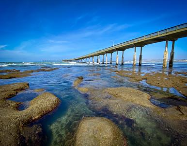 Tide Pools at Ocean Beach Pier, San Diego
