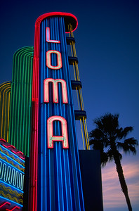 Neon Sign at the Loma Theater