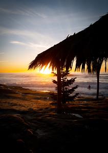 Sunset at Windansea Beach, La Jolla, California